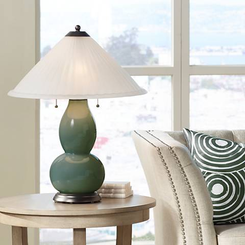 Secret Garden Fulton Table Lamp with Fluted Glass Shade