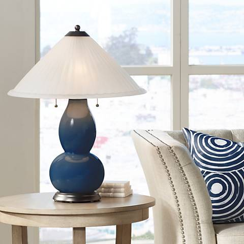 Naval Fulton Table Lamp with Fluted Glass Shade