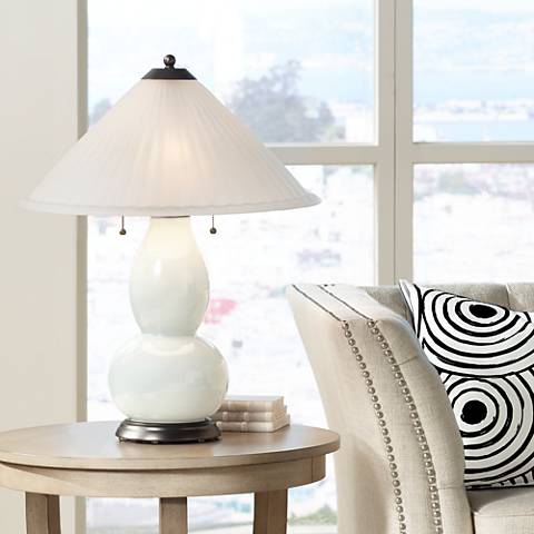 West Highland White Fulton Table Lamp with Fluted Glass Shade