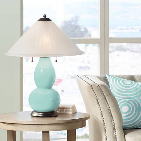 Cay Fulton Table Lamp with Fluted Glass Shade