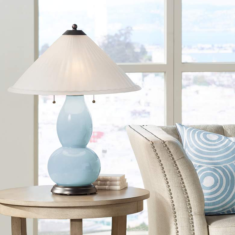 Vast Sky Fulton Table Lamp with Fluted Glass Shade