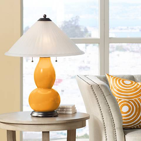 Carnival Fulton Table Lamp with Fluted Glass Shade