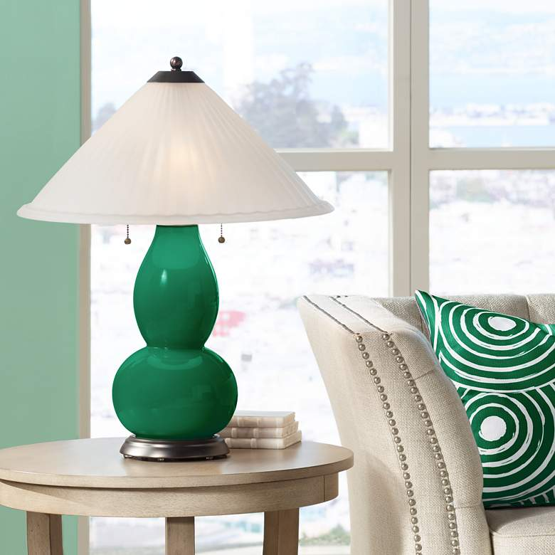 Greens Fulton Table Lamp with Fluted Glass Shade