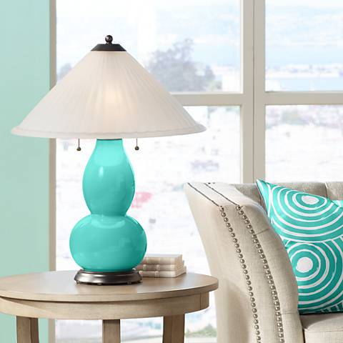 Synergy Fulton Table Lamp with Fluted Glass Shade