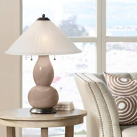 Mocha Fulton Table Lamp with Fluted Glass Shade