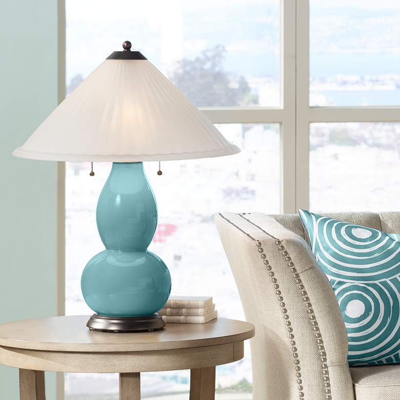 Reflecting Pool Fulton Table Lamp with Fluted Glass Shade
