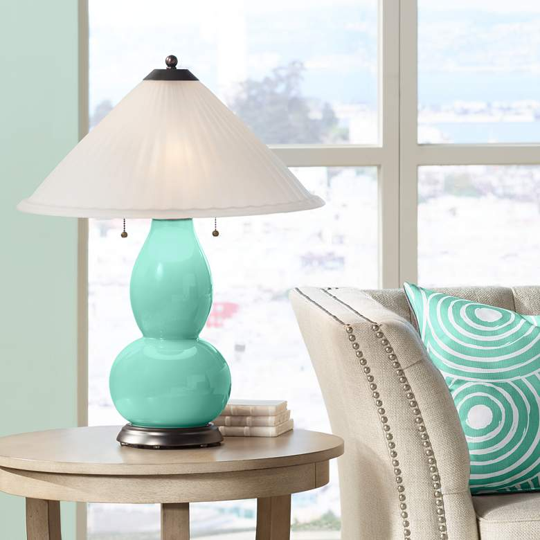 Larchmere Fulton Table Lamp with Fluted Glass Shade