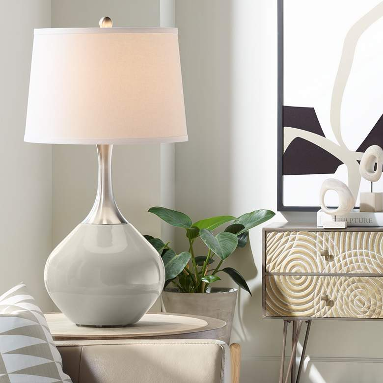 Requisite Gray Spencer Table Lamp