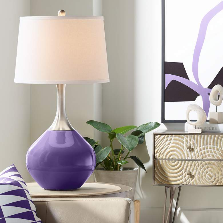 Izmir Purple Spencer Table Lamp