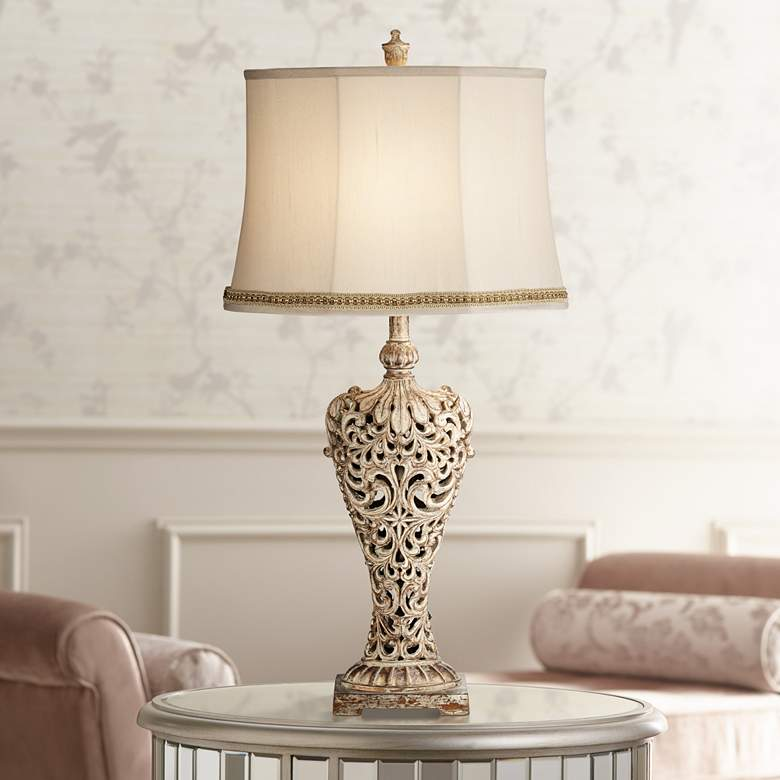 Elle Gold Table Lamp with Handcrafted Braid Trim