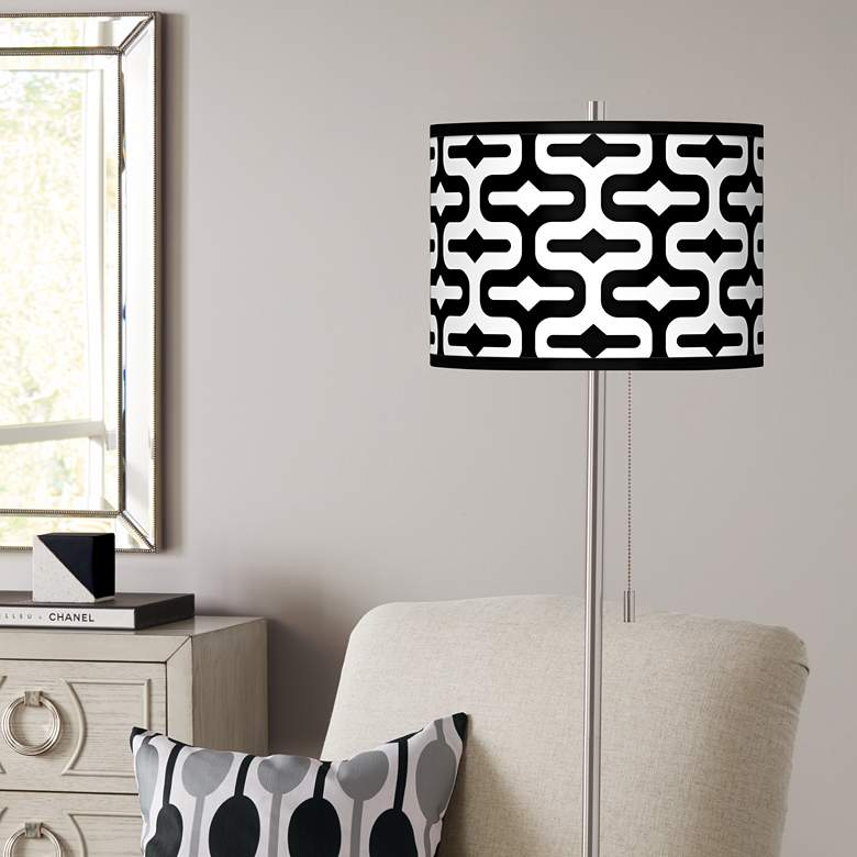 Reflection Brushed Nickel Pull Chain Floor Lamp