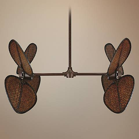 Fanimation Palisade Natural Rust Finish Double Ceiling Fan