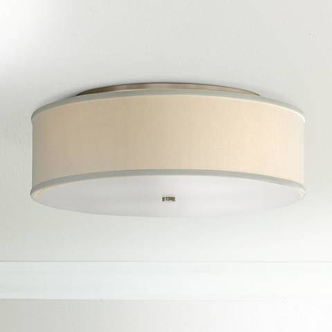 "Tech Lighting Mulberry 20"" Wide White Drum Ceiling Light"