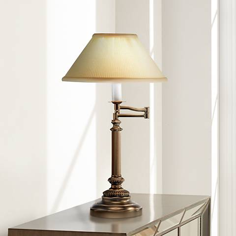 Robert Abbey Bronze View Swing Arm Desk Lamp