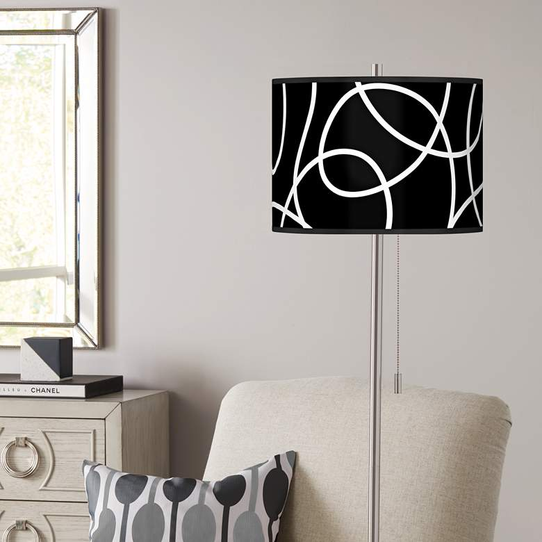 Abstract Loop Giclee Shade Floor Lamp