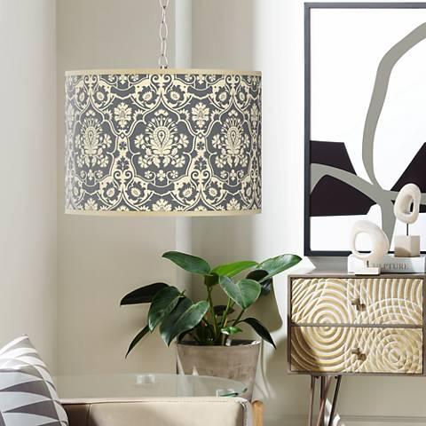 Seedling by thomaspaul Damask Swag Plug-In Chandelier