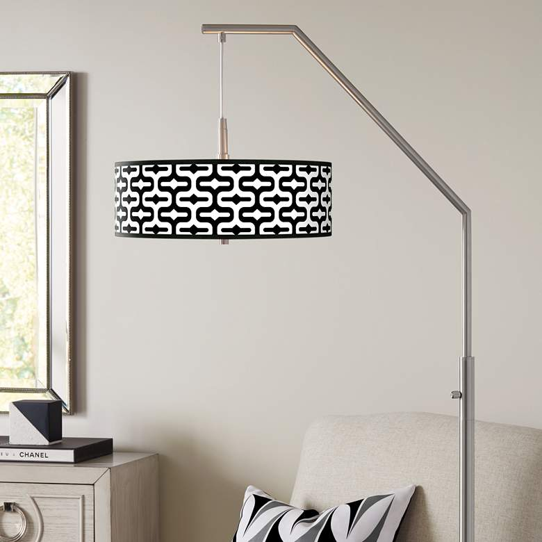 Reflection Giclee Shade Arc Floor Lamp