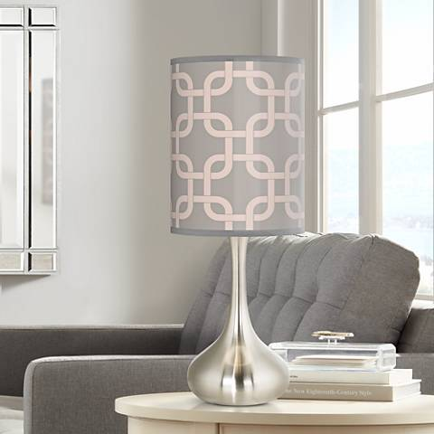 Smoke Lattice Giclee Droplet Table Lamp