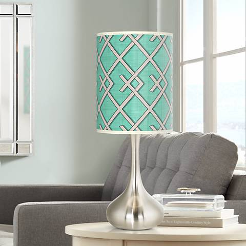 Crossings Giclee Droplet Table Lamp