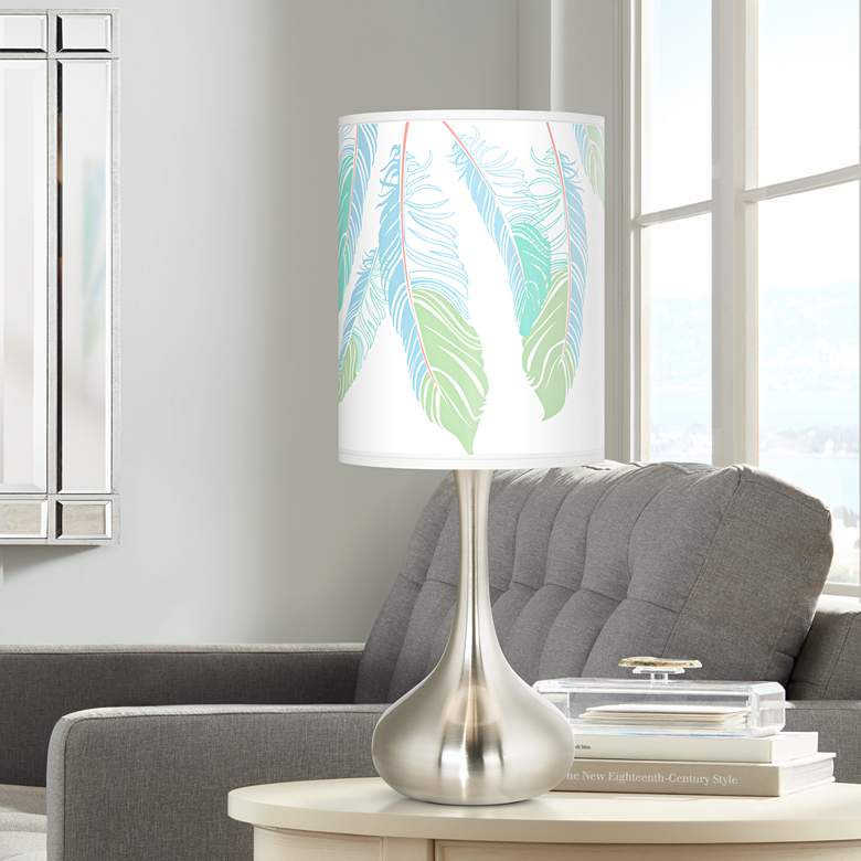 Light as a Feather Giclee Droplet Table Lamp