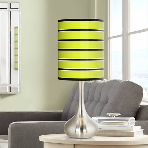 Bold Lime Green Stripe Giclee Droplet Table Lamp 27r13 Lamps Plus