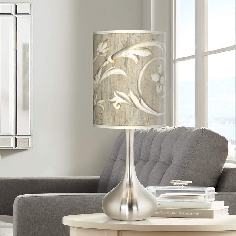 Laurel Court Brushed Nickel Court Droplet Table Lamp