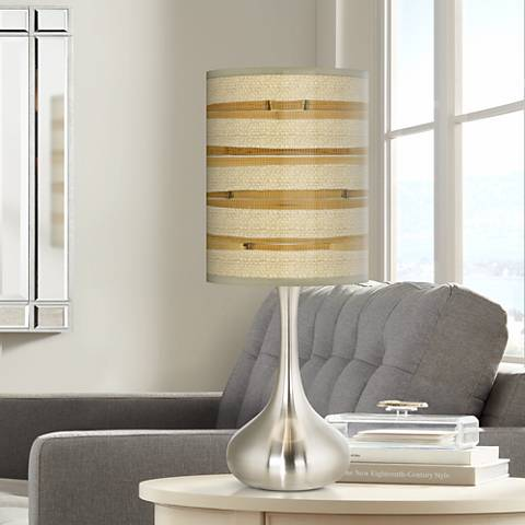Bamboo Wrap Giclee Droplet Table Lamp