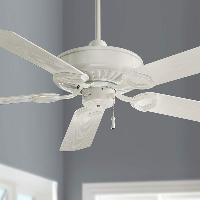 "54"" Minka Aire White Sundowner Ceiling Fan"