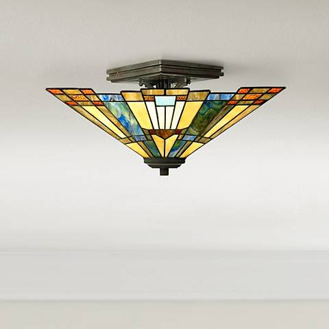 "Quoizel Inglenook Collection 14"" Wide Ceiling Light Fixture"