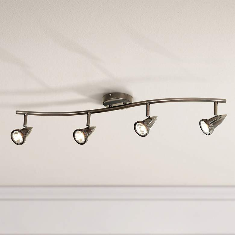 LED Pro Track® 4-Light Oil Rubbed Bronze Track Kit Wave Bar