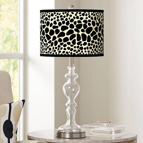 Leopard Giclee Apothecary Clear Glass Table Lamp