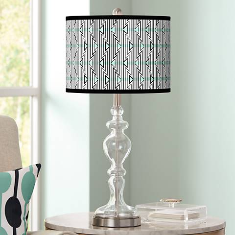 Indigenous Giclee Apothecary Clear Glass Table Lamp