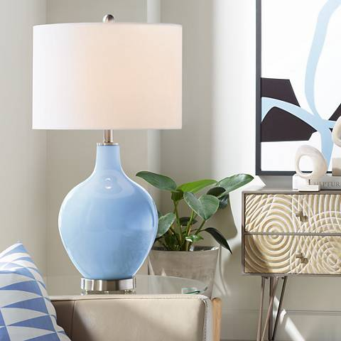 Placid Blue Ovo Table Lamp