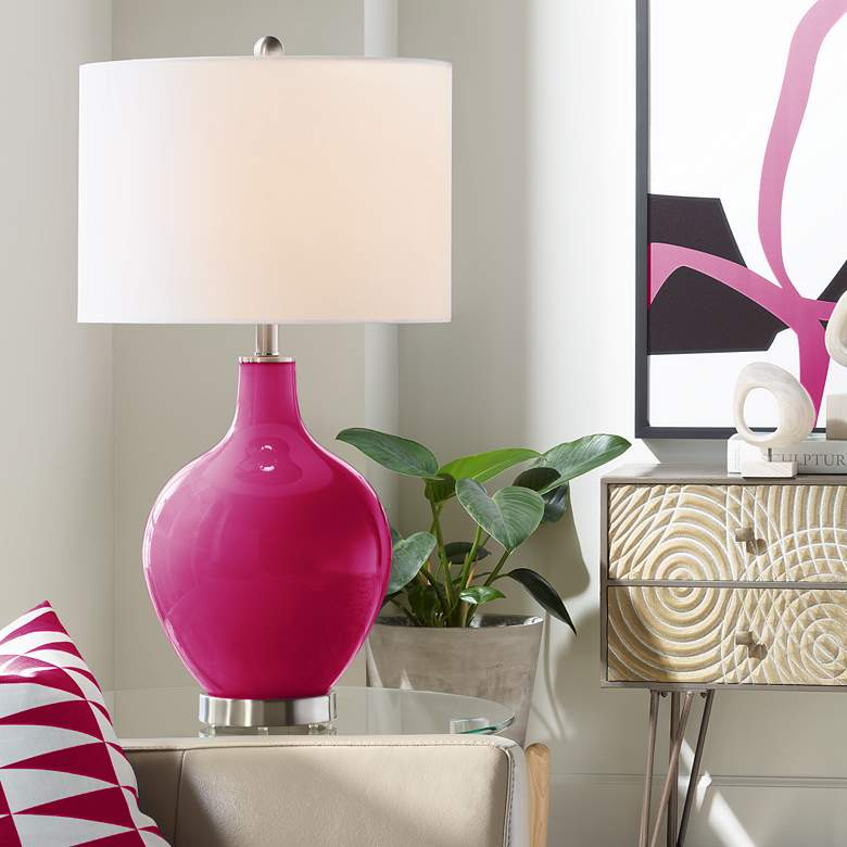 French Burgundy Ovo Table Lamp