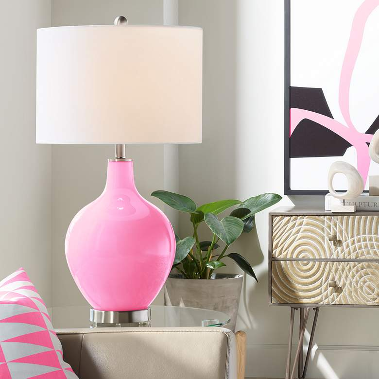 Candy Pink Ovo Table Lamp
