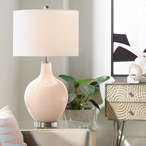 Linen Ovo Table Lamp