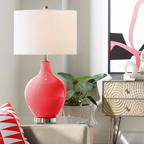Poppy Red Ovo Table Lamp