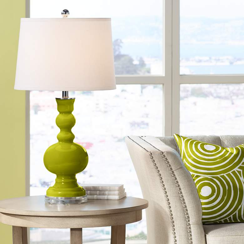 Olive Green Apothecary Table Lamp