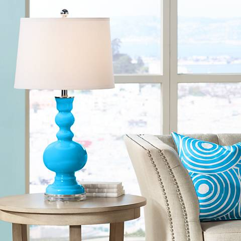 Sky Blue Apothecary Table Lamp