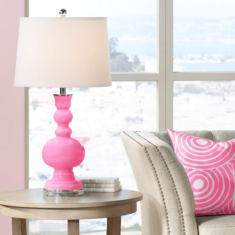 Candy Pink Apothecary Table Lamp