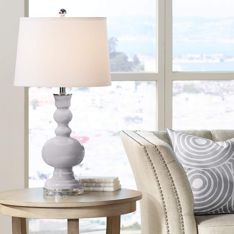 Swanky Gray Apothecary Table Lamp