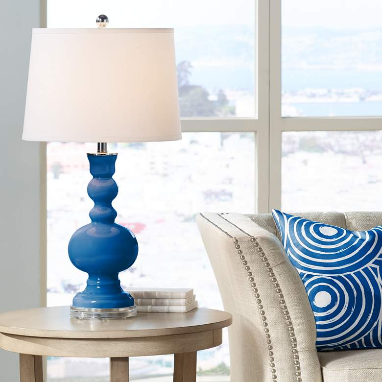 Hyper Blue Apothecary Table Lamp by Color Plus