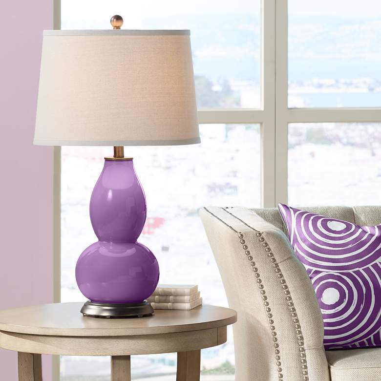 Passionate Purple Double Gourd Table Lamp