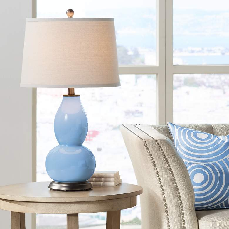 Placid Blue Double Gourd Table Lamp