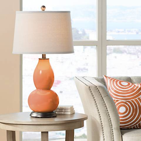 Celosia Orange Double Gourd Table Lamp