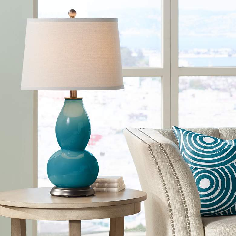 Caribbean Sea Double Gourd Table Lamp