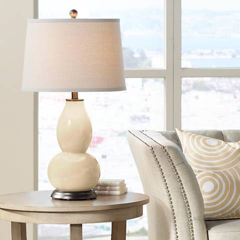 Colonial Tan Double Gourd Table Lamp
