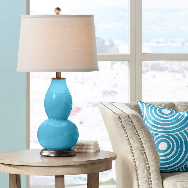 Jamaica Bay Double Gourd Table Lamp