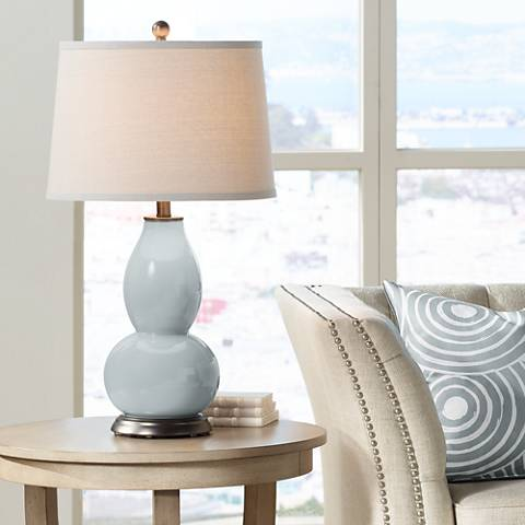 Uncertain Gray Double Gourd Table Lamp