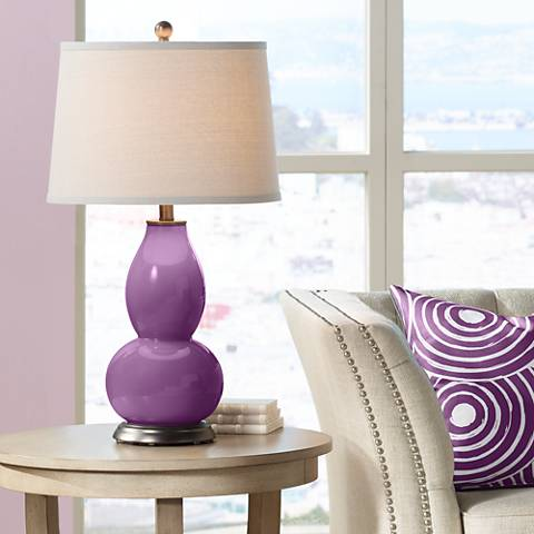 Kimono Violet Double Gourd Table Lamp
